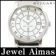 【BVLGARI】ブルガリ ソロテンポ ST35S ホワイト 文字盤 SS ステンレス メンズ クォーツ【中古】【腕時計】