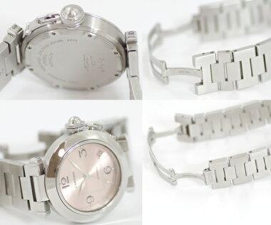 【Cartier】カルティエパシャCデイトW31075M7ピンク文字盤SSステンレスレディースボーイズ自動巻き【】【腕時計】