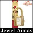 【HERMES】エルメス ケリーウォッチ オーストリッチ レッド 赤 ホワイト 文字盤 YGP ゴールド ブラウン レザー レディース クォーツ【中古】【腕時計】
