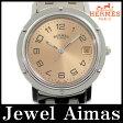 【HERMES】エルメス クリッパー CL6.710 ピンク 文字盤 SS ステンレス ボーイズ メンズ クォーツ ラージサイズ【中古】【腕時計】