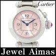 【Cartier】カルティエ ミスパシャ W3140008 ピンク 文字盤 SS ステンレス レディース クォーツ【中古】【腕時計】