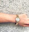 【電池交換済み】【Cartier】カルティエ エリプス ヴィンテージ 純正 3重ダイヤベゼル サファイヤ アイボリー 文字盤 YG イエローゴールド 金無垢 レディース クォーツ アンティーク クラシック【中古】【腕時計】