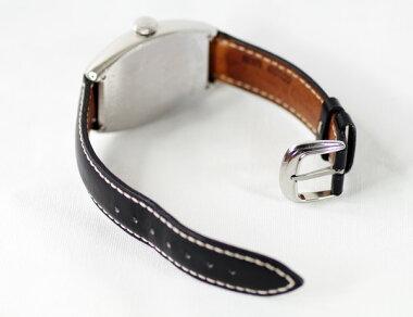 【FRANKMULLER】フランクミュラーカサブランカ5850ブラック文字盤SSステンレス純正レザーストラップメンズクォーツ【中古】【腕時計】