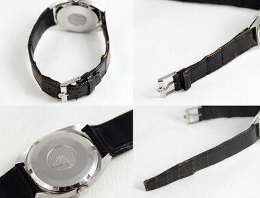 【OMEGA】オメガコンステレーションデイトシルバー文字盤SSステンレスレザーストラップメンズ自動巻き【】【腕時計】