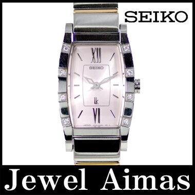 【SEIKO】セイコールキア1F20-0BK08Pダイヤモンドベゼルピンク文字盤SSステンレスコンビレディースクォーツ【】【腕時計】
