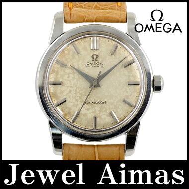 【OMEGA】オメガシーマスターアンティークCal.501ブラウン文字盤SSステンレスメンズ自動巻き【】【腕時計】
