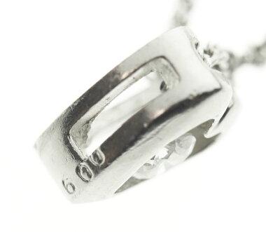 【ジュエリー】ダイヤモンドティアドロップモチーフネックレスK18WGイタリア製☆1555AL【】