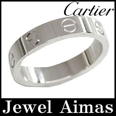 【Cartier】カルティエミニラブリング#49750K18ホワイトゴールド9号【】【小物】