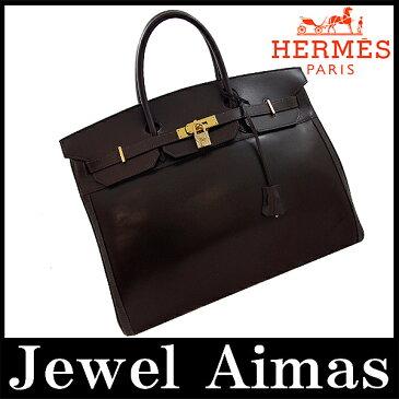 【HERMES】エルメス バーキン40 ハンド トート バッグ ダークブラウン アマゾニア ボックスカーフ メンズ ボストン 旅行バッグ 旅行鞄 バーキン 40【中古】