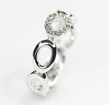 新品【ジュエリー】ダイヤモンド0.07ctリング5号K18WG