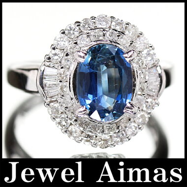 【ジュエリー】サファイア2.03ctダイヤモンド0.79ctリング13号PT900【】ZPM