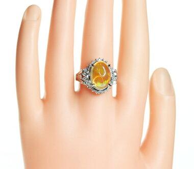 【ジュエリー】ウォーターオパール6.25ctダイヤモンド0.63ctリング17.5号PT900メキシコオパール<遊色効果>【】ZPG