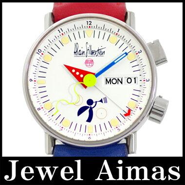 【ALAINSILBERSTEIN】アラン・シルベスタインLEREVEILル・レベイユAS5008カラーベルトホワイト文字盤自動巻きメンズ腕時計<世界限定500本>【】