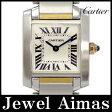 【Cartier】カルティエ タンクフランセーズ SM W51007Q4 ホワイト 文字盤 K18 YG イエローゴールド SS ステンレス コンビ レディース クォーツ【中古】【腕時計】