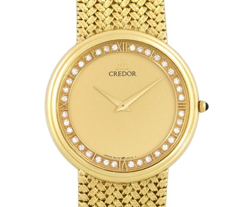 腕時計, メンズ腕時計 SEIKO CREDOR 5A74-0300 K18YG