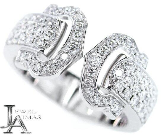 レディースジュエリー・アクセサリー, 指輪・リング SALE10!Cartier 2C 10 50 K18WG 750WG MJG