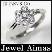 【Tiffany & Co. 】ティファニー Pt950 ガーデンフラワー 7P ダイヤモンド リング 8号  【中古】