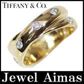 【Tiffany & Co】 ティファニー ドッツツイスト リング ダイヤモンド K18YG PT950 コンビ 10号 【中古】