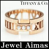 【Tiffany & Co.】ティファニー アトラス ダイヤモンド 3P 18号 750(K18)PG ローズゴールド【中古】
