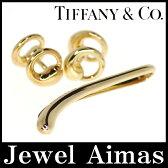 【Tiffany & Co.】ティファニー カフリンクス カフスタイバー ネクタイピン エターナルサークル エルサ・ペレッティ セット メンズ 750YG(K18YG)【中古】