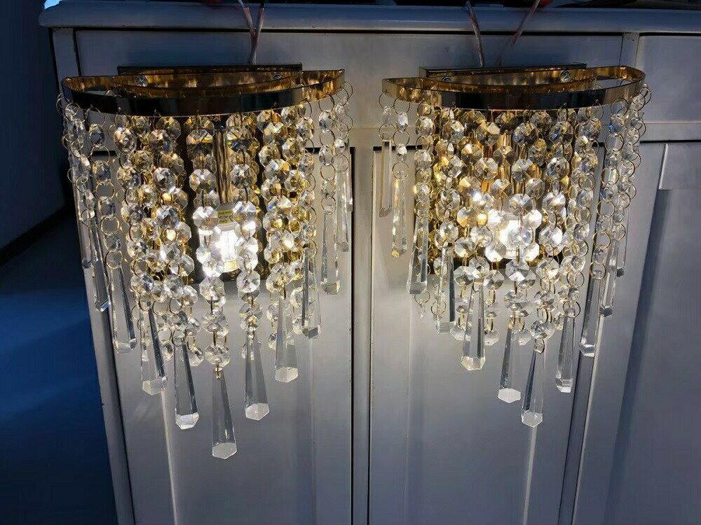 2個セット クリスタルガラス製 シャンデリア ビーズ使用のゴージャス壁掛けシャンデリア ミニシャンデリア インテリア オシャレ