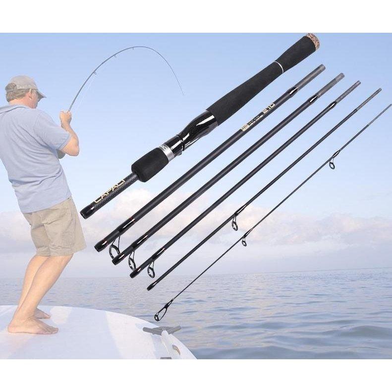 トラベルロッド6ピーススピニング用ロッドベイト用ロッドソフトケース付きパックロッド釣り海釣り釣り竿釣具