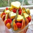 フルーツ フラワー ケーキ アレンジメント 4〜5人前   誕生日 プレゼント お祝い 内祝い 還暦祝い 結婚式 バースデー パーティー 二次会 2次会 イベント 退職祝い くだもの 果物 フルーツケーキ