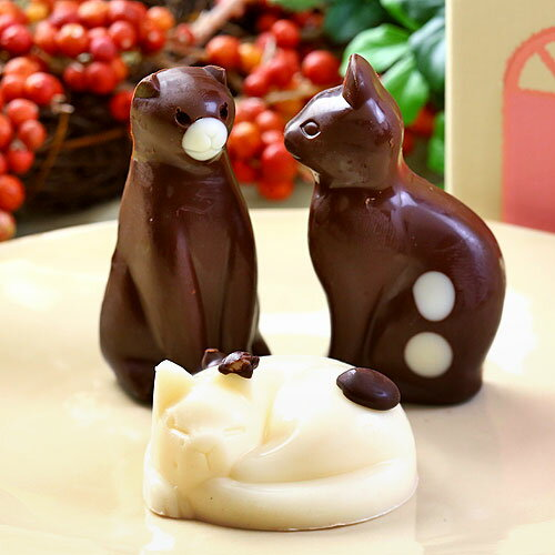 カワイイ!ニャンコのチョコレート♪ねこチョコレート ネコチョコ 猫 3個 お家のギフト箱入り(お返し お菓子 プチギフト かわいい 誕生日プレゼント ギフト スイーツ アニマル 子供 動物 チョコ チョコレート ネコ ねこ バースデー 誕生祝い 内祝い ホワイトデー 義理返し 2017 本命 義理 小学生)