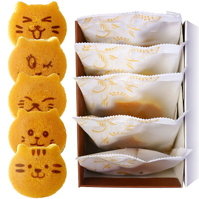 ねこのお菓子 どらネコ(猫ドラ焼き) 5個入り 小豆餡 ギフト仕様(出産内祝い お返し 内祝い…