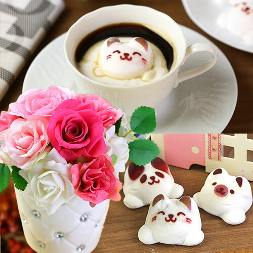 Latteマシュマロ ラテマル フラワー(ピンク)セット