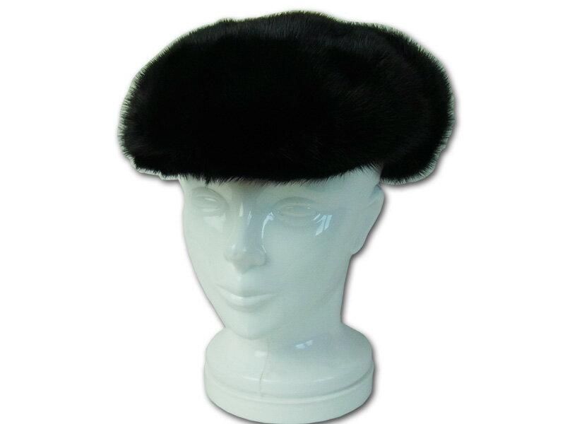 毛皮帽子 ミンク ファー帽子 ハンチング 耳当て付き メンズ レディース:革製品と毛皮のエアーマミー
