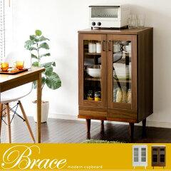 食器棚 幅60 北欧 カップボード キッチン 収納 キッチンボード キッチンラック ラック 木製 モ...