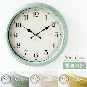 掛け時計 おしゃれ アンティーク シンプル リビング グリーン ホワイト