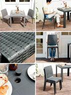 【送料無料】ガーデンテーブル&チェアー3点セットラタン風ガーデンテーブルセットチェア椅子バルコニーテラス屋内外兼用STERA(ステラ)3点セットグレーブラックホワイト【SS5】