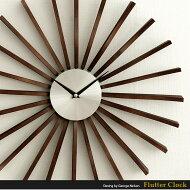 【送料無料】壁掛け時計、時計、置き時計クロック、ウォールクロック、レトロ、モダン、北欧、シンプル、FlutterClock〔フラッタークロック〕