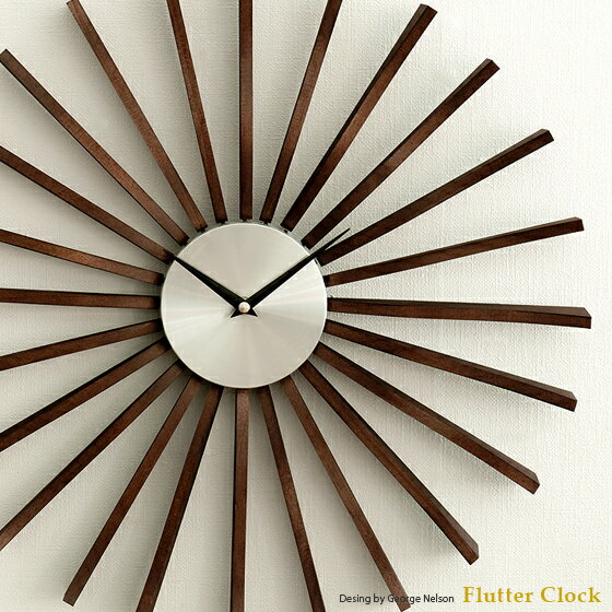 掛け時計 壁掛け時計 時計 おしゃれ 掛時計 クロック ウォールクロック ジョージネルソン George Nelson 北欧 レトロ ミッドセンチュリー シンプル Flutter Clock 〔フラッタークロック〕