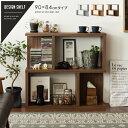 ラック 木製 棚 シェルフ ディスプレイ 収納 おしゃれ 幅90 北欧...(1.0)