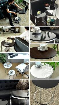 サイドテーブル テーブル BARTH 〔バース〕 2個セット 円形 ソファーテーブル ネストテーブル 木製 北欧 シンプル モダン 丸型 ソファ ベッド サイドに最適 ナイトテーブル おしゃれ かわいい 家具 table 黒 ブラック ブラウン ホワイト 送料無料