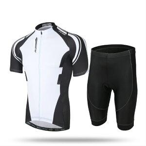 AIRFRIC サイクルジャージ メンズ 夏 半袖 上下セット サイクルウェア 17ss01-BK