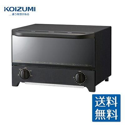 コイズミ オーブントースター ブラック KOS1214K コンパクト 広い庫内 スタイリッシュ 山型トースト2枚 20cmピザ 無段階式温度調節