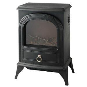 【あす楽対応】ノスタルジア 暖炉型ヒーター ブラック CHT-1540BK 季節家電 暖房家電 インテリア アンティーク 暖炉型