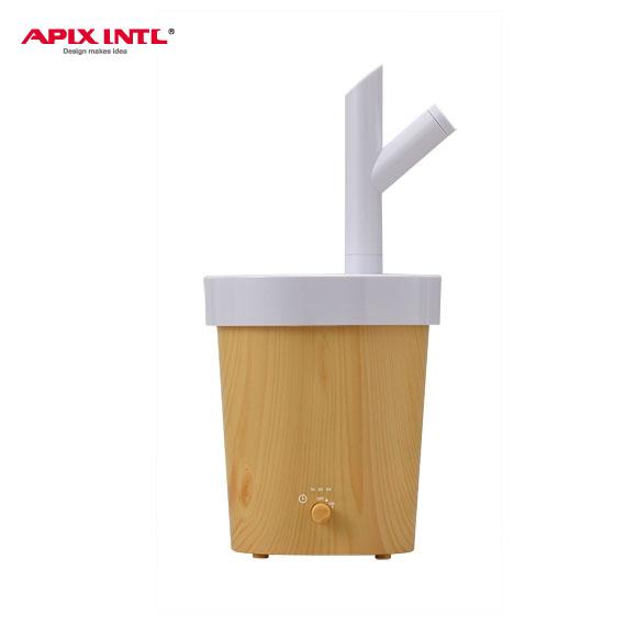 アピックス 超音波式アロマ加湿器 Branch(ブランチ) AHD-080-YL ナチュラルイエロー 木目調 Wood デザイン家電 かわいい おしゃれ