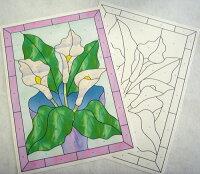 ステンドグラス型紙