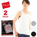 ヘインズ Hanes タンクトップ 2枚組 Sサイズ Mサイズ Lサイズ 2P メンズ インナー 白 下着(綿100% 下着 男性下着 肌着 男性用下着 メンズ下着 ランニングシャツ ノースリーブ シャツ メンズインナー 大きいサイズ ブランド セット)