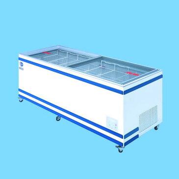 アイスクリームから魚介類食肉まで無風冷凍冷蔵切替式ショーケース 570リットル GTXS-77