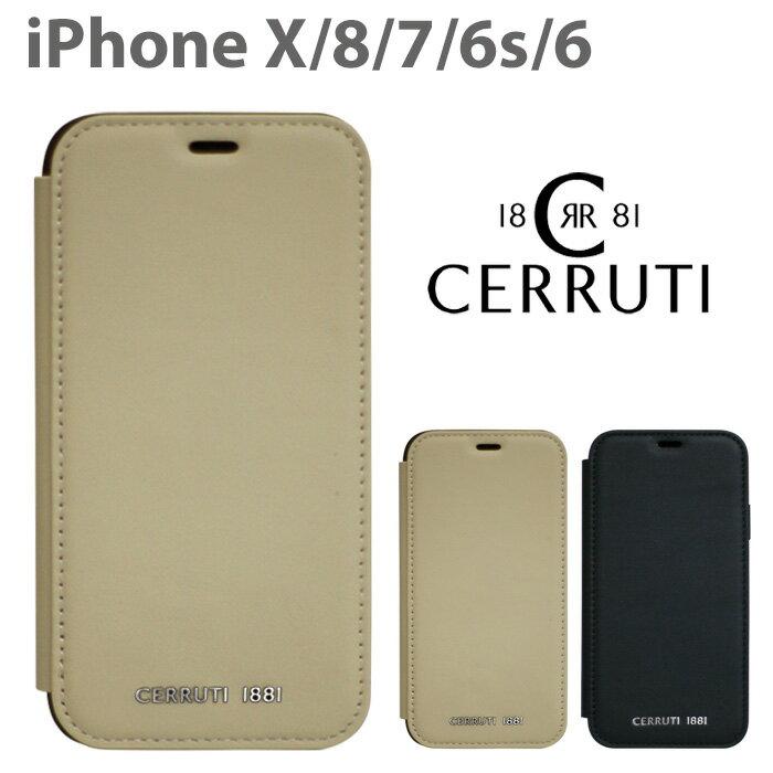 891717f5f4 CERRUTI チェルッティ 公式ライセンス品 iPhoneXS iPhoneX iPhone8 iPhone7 iPhone6s iPhone6  ケース 本革 手帳型