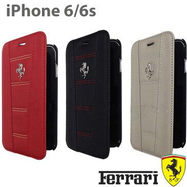 【SALE】フェラーリ・公式ライセンス品 iPhone6s iPhone6 アイフォン6 ケース 手帳型 本革 【 アイフォン6 iphone6sケース 手帳型 本革 レザー iPhoneケース スマホケース かっこいい メンズ シンプル ビジネス ブランド 】[458 Real Leather] FE458FLBKP6/4.7inch