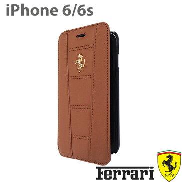 【SALE】フェラーリ・公式ライセンス品 iPhone6s iPhone6ケース 手帳型 本革 アイフォン6 ケース【 アイフォン6 iphone6sケース 手帳型 本革 レザー iPhoneケース スマホケース かっこいい メンズ シンプル ビジネス ブランド 】458 Real Leather FE458GFLBKP6/4.7inch