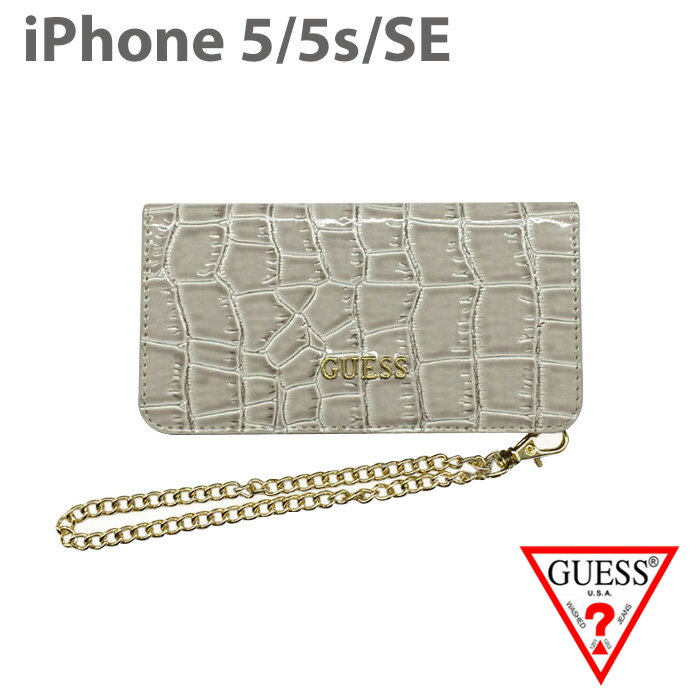 07d0847e303d 【SALE】iPhoneSE iPhone5s iPhone5 ケースGUESS クラッチ クロコ調 アイフォン5 5s アイフォン SE