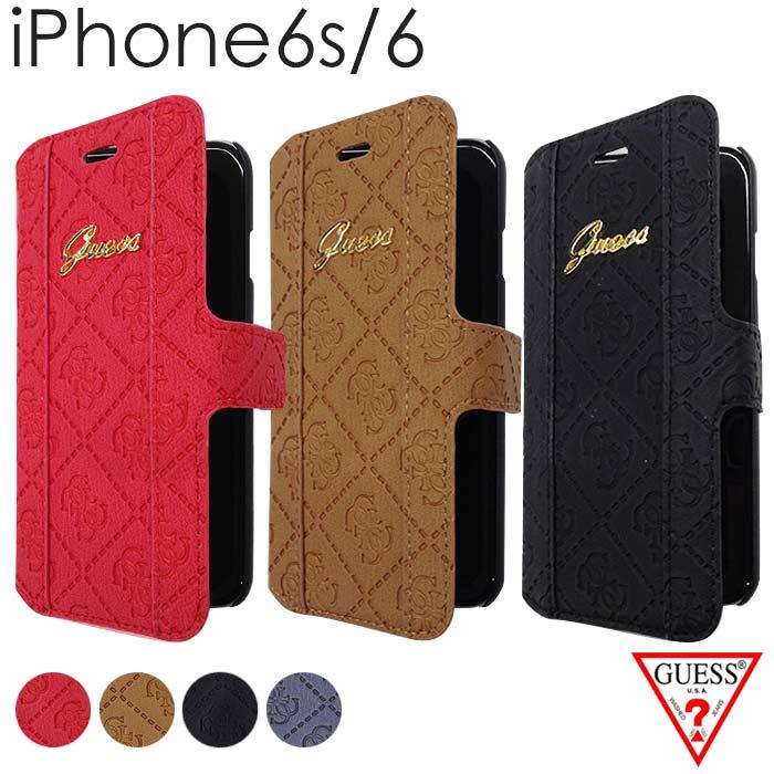 ee9dd628d8 GUESS (ゲス) iPhone6s iPhone6 ケース 手帳型 【 アイフォン 6ケース iphone6sケース レザー